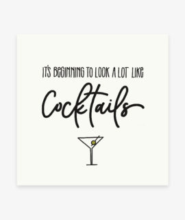 its beginning to look a lot like cocktail